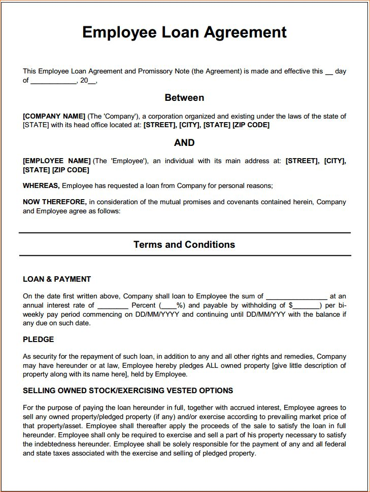 4+ free loan agreementReport Template Document | report template