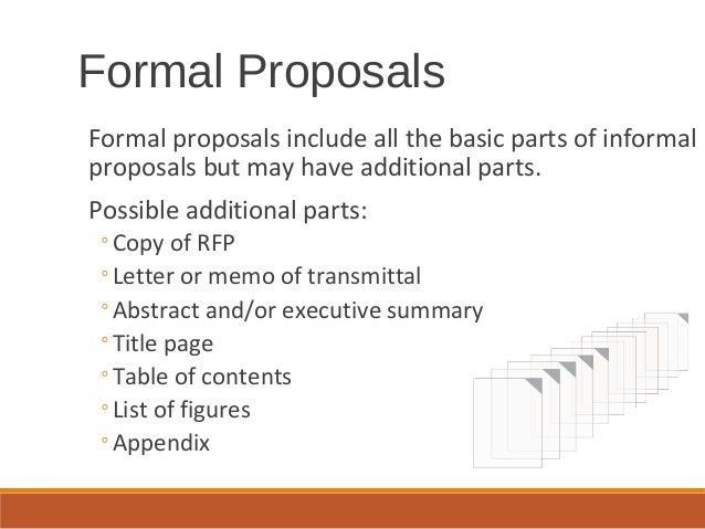 Formal reports