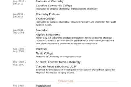 GC MS Chemist Resume Samples - Reentrycorps