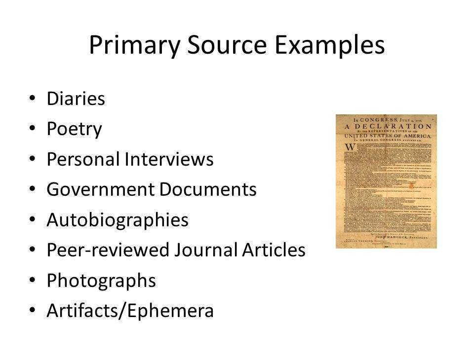 Primary vs. Secondary Sources - ppt video online download