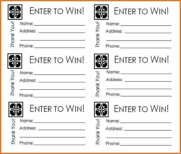 8+ free raffle ticket template | Job Resumes Word