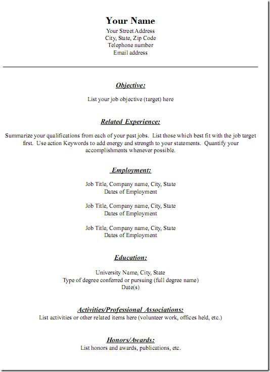 Fancy Ideas Resume Template For Mac 7 Free Resume Templates ...