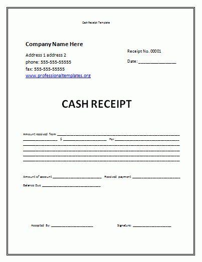 receipt template free | Cash Receipt Template | Professional Word ...