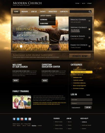 Church v2.5 Joomla Theme | Best Website Templates