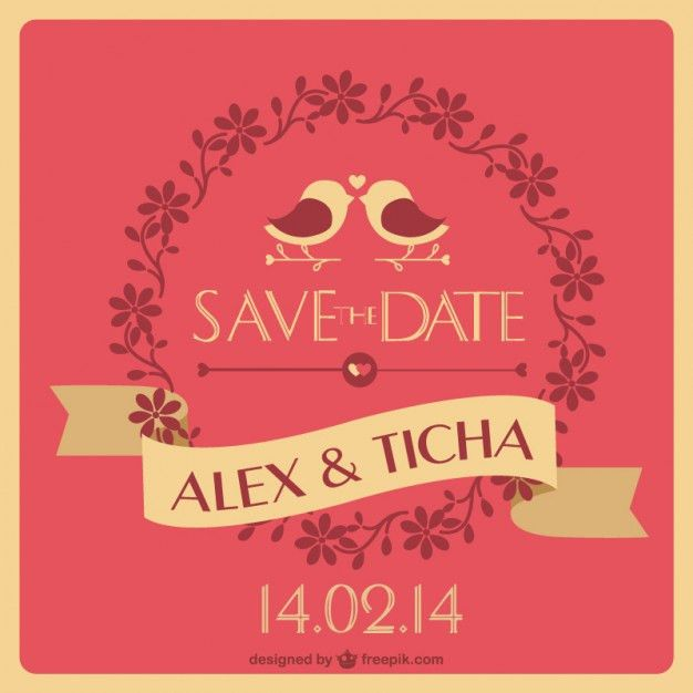 Unique wedding invitation Vector | Free Download