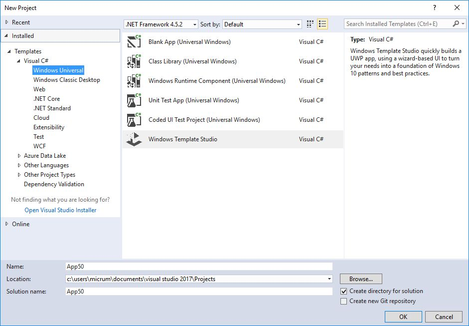 Announcing Windows Template Studio - Building Apps for ...
