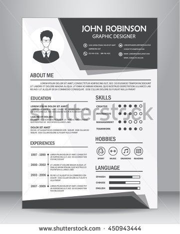 Resume Template Stock Images, Royalty-Free Images & Vectors ...