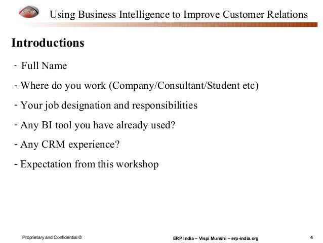 Bi crm presentation - Using Business Intelligence to Improve Customer…