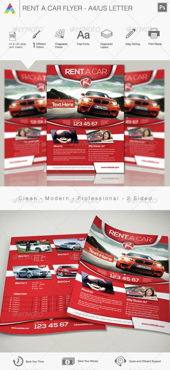 Rent a Car Flyer by Cr8iveStudio | GraphicRiver