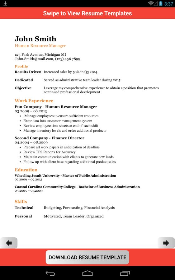 Resume Template Creator Pro - Android Apps on Google Play