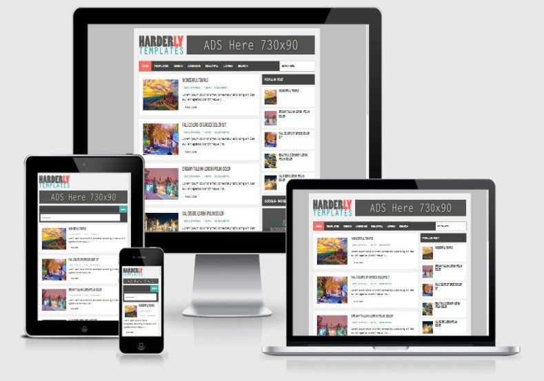 Harderly Responsive Blogger Template 2014 Free Blogger Templates