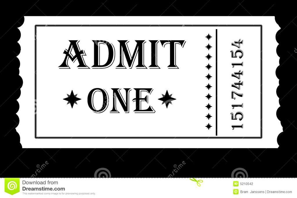 Admit One Ticket Clipart Kid Clip Art Ticket : Masir