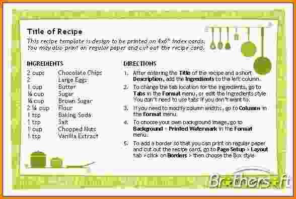 Recipe Template For Word.recipe Card 1 4x6.png - LetterHead ...