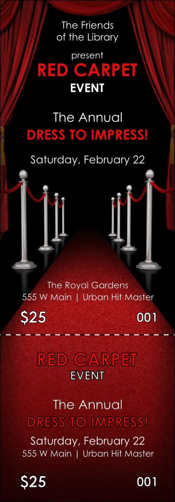 Carpet Event Ticket