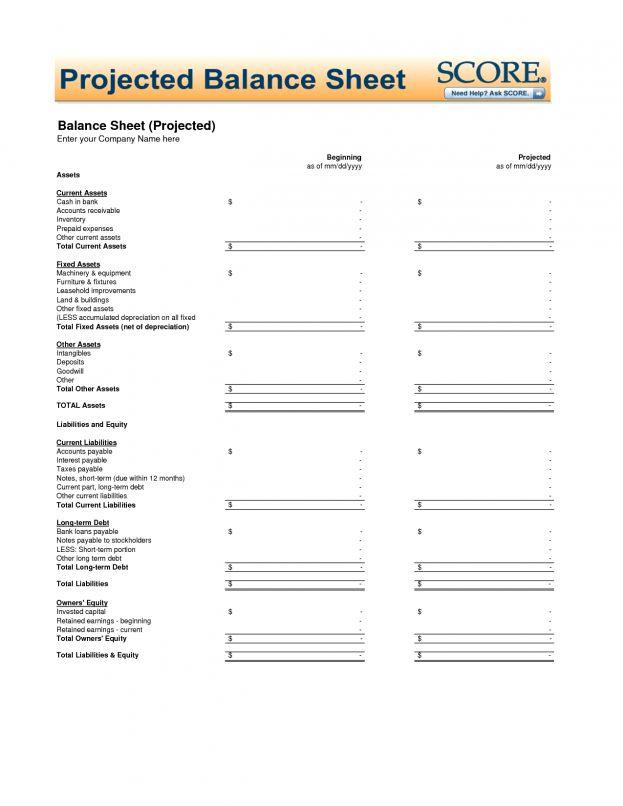 Blank Balance Sheet Template : Balance Sheet Template Example ...