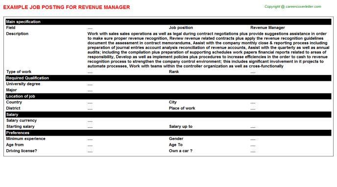 sample product manager job description. regional property manager ...