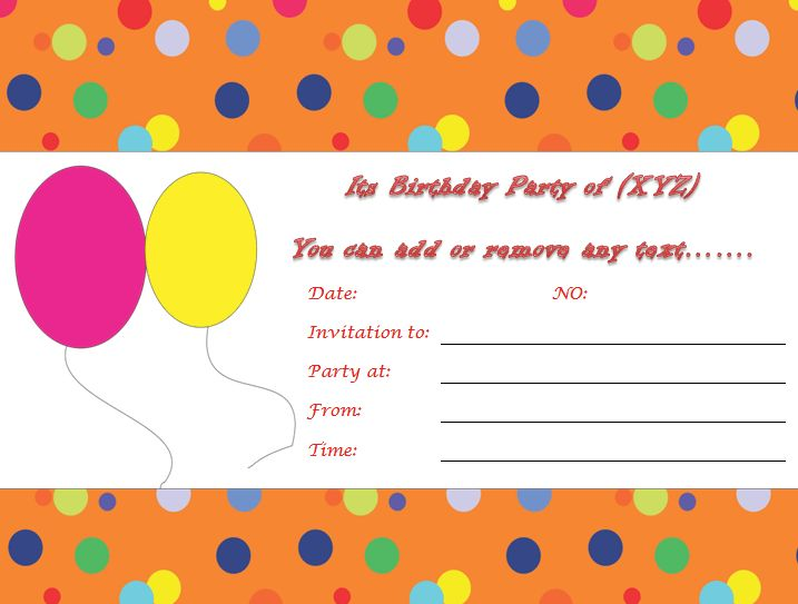 Birthday Invite Template – gangcraft.net