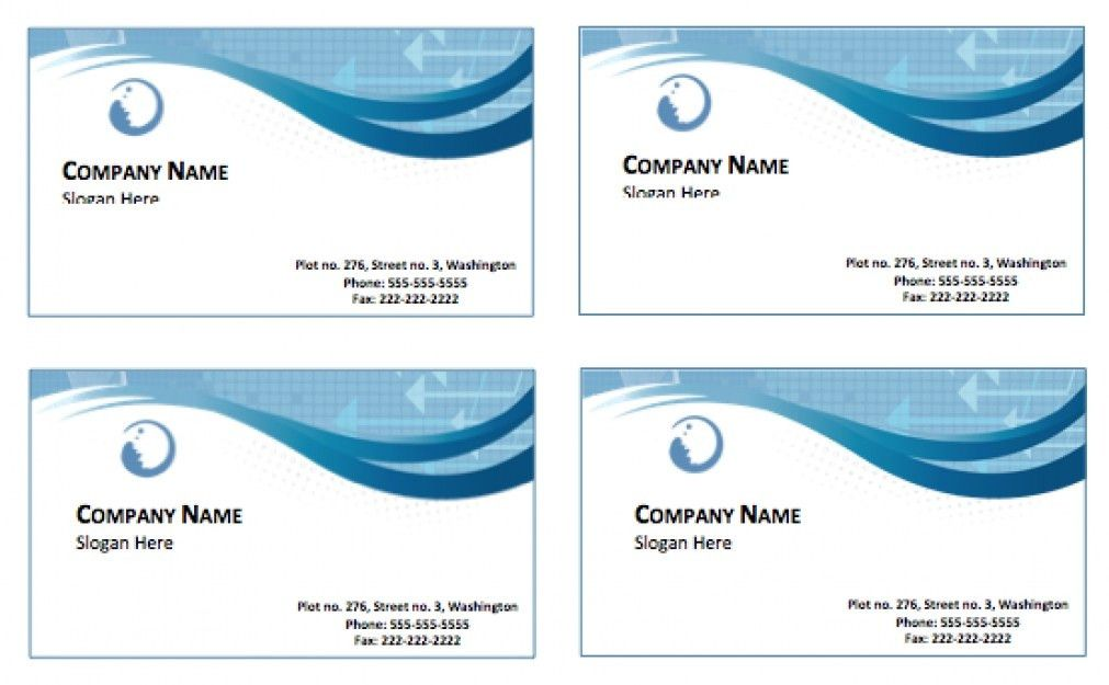 Free Card Templates For Word Word Business Card Templates Free - Business card templates for word free download