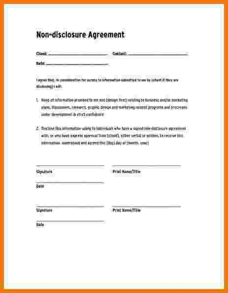 7+ non disclosure agreement free | Itinerary Template Sample