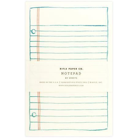 Rifle Paper Co. Lined Paper Notepad | Greer Chicago | Unique ...