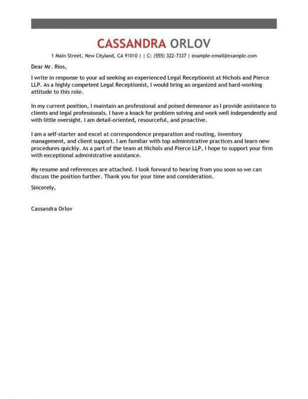 Cover letter sample chef position