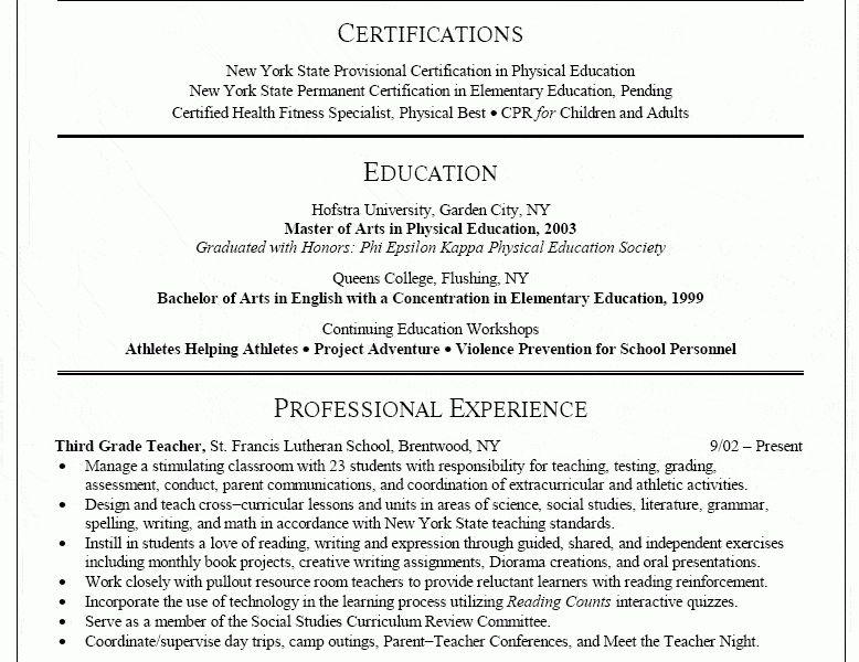 educator resume 17 resume teacher template for ms word educator ...