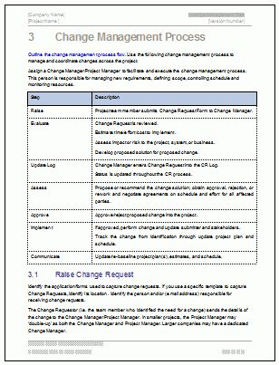 Change Management Plan - Download MS Word & Excel templates