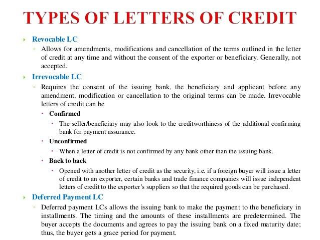Letter Of Credit. 2 Export Letter Of Credit Life Cycle Of Lc ...
