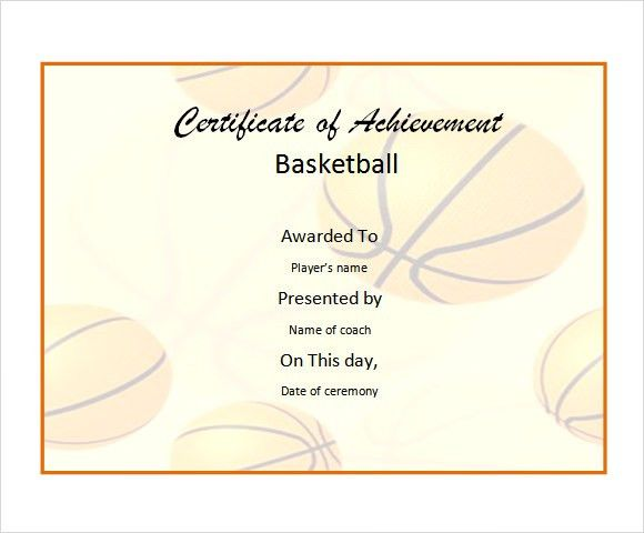 8+ Basketball Certificate Templates - Download Free Documents in ...