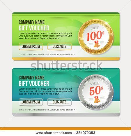 Vector Gift Voucher Template Clean Modern Stock Vector 354072353 ...