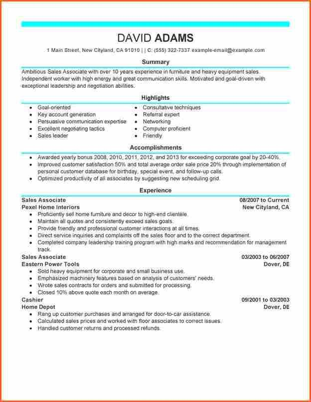 5+ retail sales associate resume - Budget Template Letter