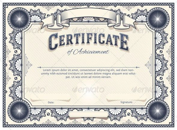 Certificate Template | Certificate templates, Lorem ipsum text and ...