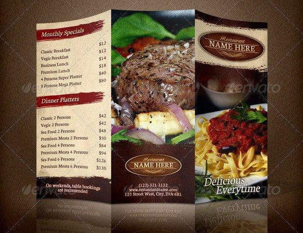 20 Cool Restaurant Brochure Templates