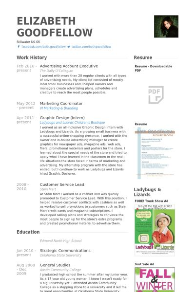 Advertising Coordinator Resume Examples | Sample Customer resume maker