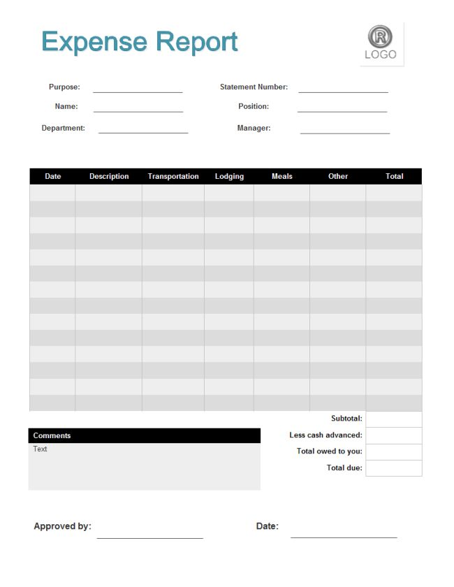 Expense Report Templates - Free Download