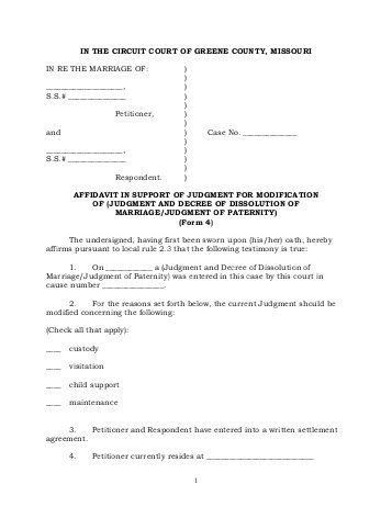 Amazing Affidavit Of Loss Template Images - Best Resume Examples ...