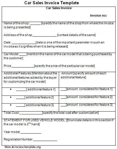 Download Vehicle Sales Receipt Template Free | rabitah.net