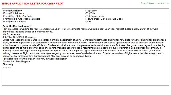 Pilot Cover Letter] Examples Of A Cover Letter For A Pilots Resume ...