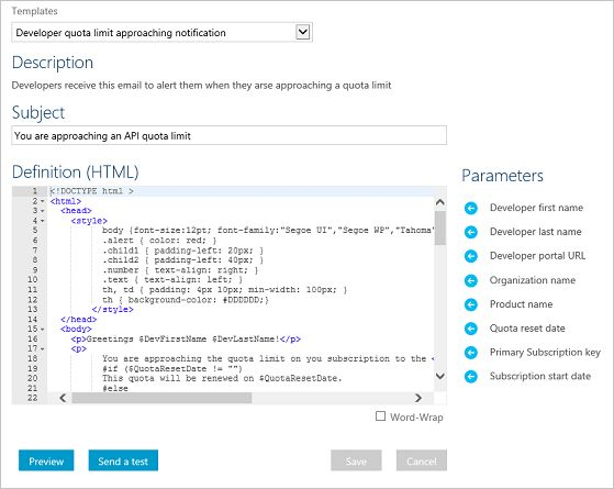 Configure notifications and email templates in Azure API ...