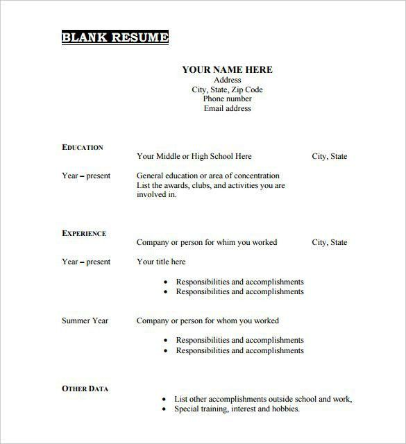 Skill Based Resume Template. Sample Resume Skills Based Resume ...