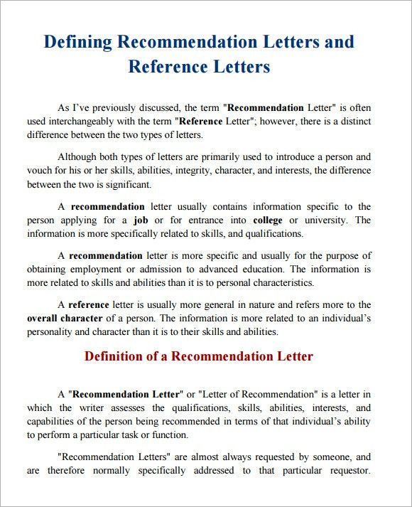 Sample Character Reference - 6+ Documents in PDF