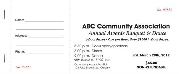 Ticket Printing Calgary. Call 403-800-0326 Economy Printers NE