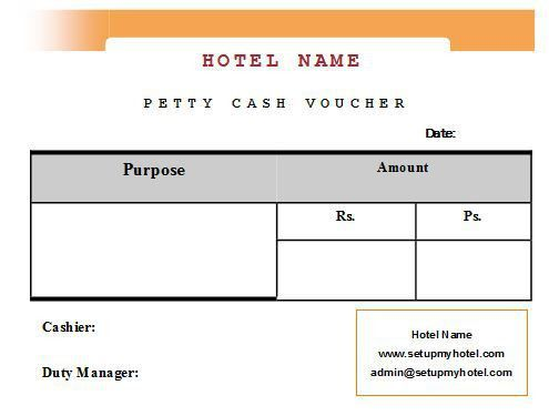 Sample Format of Hotel petty Cash Voucher | Sample Hotel Guest ...