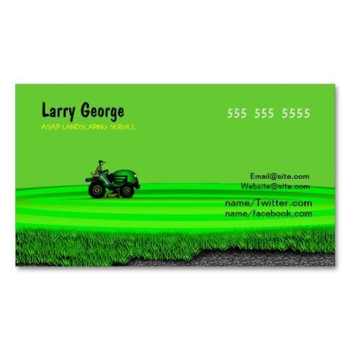 Lawn care Service Business Card | Lawn Care Business Cards ...