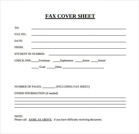 Generic Fax Cover Sheets. Free Cover Fax Sheet For Microsoft ...