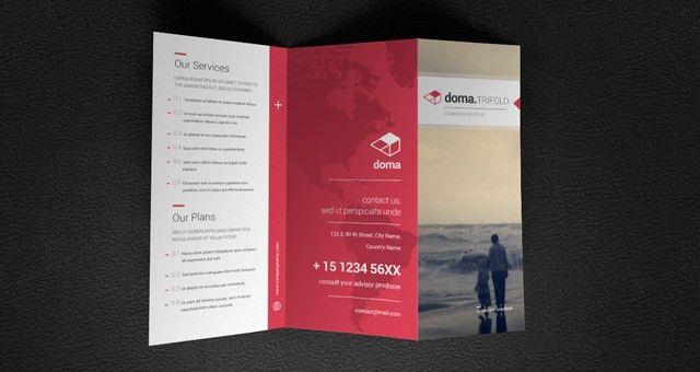 Doma Tri Fold Brochure Template | Brochure Templates | Pixeden