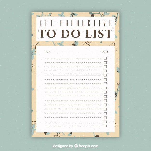 Document template to write things to do Vector | Free Download