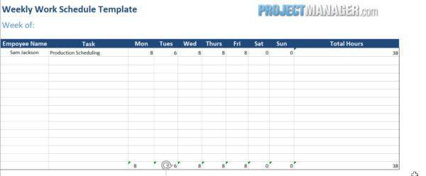 Work Schedule Template — ProjectManager.com