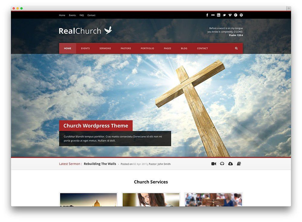15 Responsive Church WordPress Themes For Event and Sermon ...
