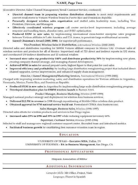 Sales Resume | Free Resumes Tips